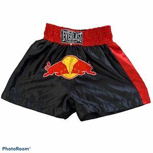 Everlast Skinners Polyester Satin Shiny USA Boxing Trunks Sz XL Red Bull