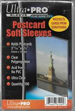 (100) Ultra Pro Postcard Size Sleeves / Covers And Free Shipping