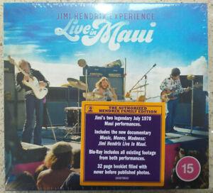 JIMI HENDRIX - LIVE IN MAUI - CD + BLU-RAY - LIKE NEW