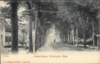 Winchendon MA Central St. c1905 Postcard