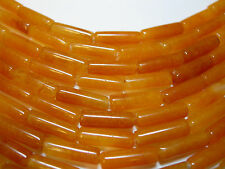 "Honey Jade Barrel - 13x4mm Tube gemstone beads, 16"" strand"