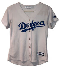 Los Angeles Dodgers Youth Small Majestic Cool Base Jersey White Blank Back USA