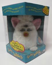 Furby Babies 1999 Tiger Electronics Purple White Green Tested Working A4