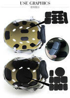 Helmet Pads Tactical Military Safety EVA Pads Set of 19Pcs Helmet Protective