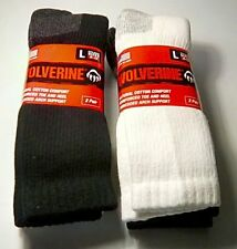 Wolverine Cotton Comfort Steel Toe Boot Sock, Large, 4 pair $19.99