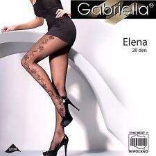 Gabriella Elena Patterned 20 Denier Tights - Black (464)