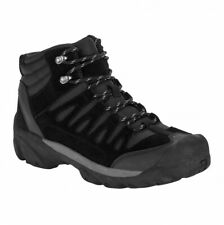 Ozark Trail Black Leather Hiking Boots Shoes Mens Size 8.5 10 12 NEW