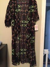 LulaRoe Black Pink Green Floral Shirley Kimono Size S (NWT)