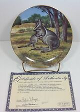 Last of Their Kind:Endangered Species Bridled Wallaby Bradford Exchange Plate #6