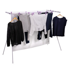 Mrs Peggs Classic 8 Line Clothesline Outdoor Indoor Portable Airer Clothes Line