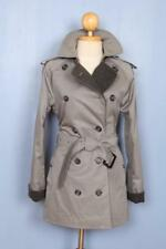 Belle femme BURBERRY Double Breasted trench-coat mac court gris 6/8 S/XS