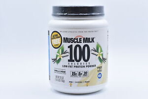 Muscle Milk 100 Calorie Low Fat Protein Powder, Vanilla, 1.65lbs EXP:12/21