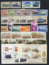 Trains on stamp collection mnh vf on 3 stockpages
