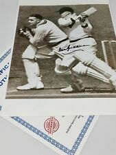 Sir Donald Bradman - Signed B & W Photo 210mm x 260mm