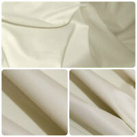 5 Metres Cotton Sateen Light Cream Curtain Lining Fabric  £9.99