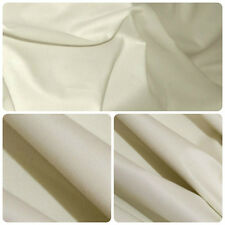 Cotton Sateen Light Cream Curtain Lining Fabric  Free UK postage
