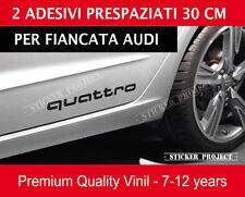 AUDI QUATTRO adesivi fiancata A1 A3 A4 A5 A6 Q3 Q5 Q7 TT S line decal stickers