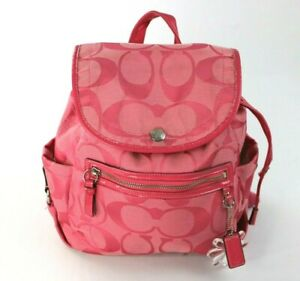 Coach Pink Backpack Medium Size With Logo