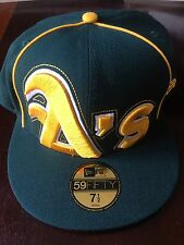 "Oakland Athletics New Era 59FIFTY MLB ""The Big Under""  7 1/2 - REDUCED $"