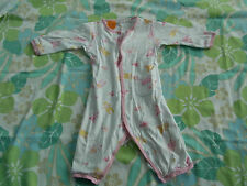 Baby Girls Pumpkin Patch Long Sleeve Winter Jump Suit Sleep suit Size 6-12 mths