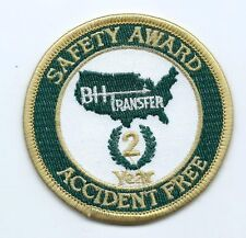 BH Transfer 2 year safety ward accident free driver patch 2-7/8 dia #885