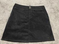 BNWOT M&S Terciopelo Negro Mini falda SZ 14