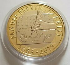 2019 Royal Mint Samuel Pepys Diarist Two Pounds £2 Coin Brilliant Uncirculated