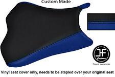 BLACK R BLUE VINYL CUSTOM FOR KAWASAKI ZX10 R NINJA 1000 08-10 FRONT SEAT COVER