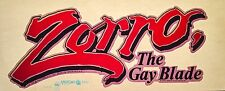 RARE!! LAST1! 1981 ZORRO GAY BLADE George Hamilton Mark TV Movie T-shirt Iron-On