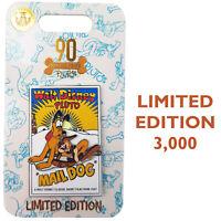 Disney Store Pluto Mail Dog Movie Poster 90th Birthday Anniversary Pin Trading