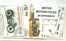 """Lot  timbres thematique """" Motos """""""