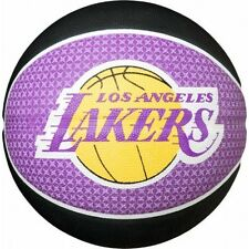 SPALDING NBA LA Lakers Basketball Los Angeles Ufficiale Squadra PALLA OUTDOOR TAGLIA 7