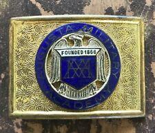 Augusta Military Academy Belt Buckle Ft Defiance VA Enameled