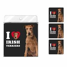Tree-Free Greetings- Irish Terriers 4-Pack Coaster Set- I (Heart) Irish Terriers