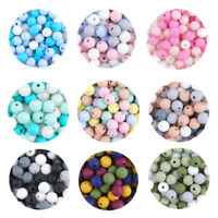 Safe Baby Chewing Round Silicone Teething Beads DIY Teether Jewelry Toy BPA Free