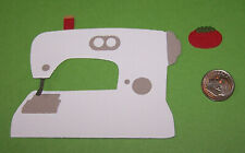 2 Sewing Machines Premade PAPER Die Cuts / Scrapbook & Card Making