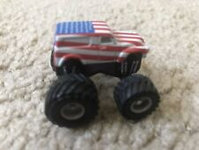 Micro Machines 1992 Monster Truck '50 Chevy Panel Truck Red White & Blue, RARE!
