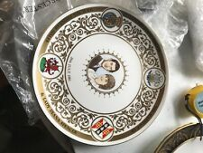 """Royal Worcester Cabinet Plate 10.5"""" Charles & Diana Ltd Edition"""