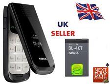 Nueva condición Nokia 2720 Black Flip FOLD Big Button teléfono de Fuente Grande Pantalla Grande