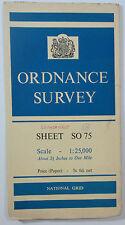 1961 old vintage OS Ordnance Survey 1:25000 First Series Map SO 75 Broadwas