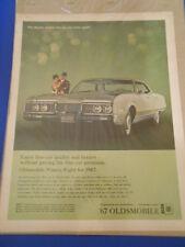 Vintage Original Automobile Advertisement Ad 13 x 10 67 Oldsmobile Ninety Eight