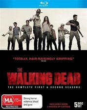 The Walking Dead : Season 1-2 (Blu-ray, 2012, 5-Disc Set)