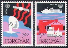 Islas Faroe 1988 Radio/Satélite/Barco/Europa/comunicaciones/Grúa/camión 2v Set b1527