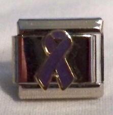 Purple Ribbon (Domestic Violence) Italian Charm - NEW
