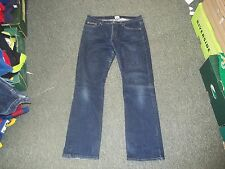 "Calvin Klein Jeans Boot Cut Size UK9 Leg 30"" Faded Dark Blue Ladies Jeans"