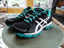 WOMAN ASICS GEL NIMBUS 13 RUNNING TRAIL SHOES/SNEAKERS T192N BLACK/GREEN 7.5 M