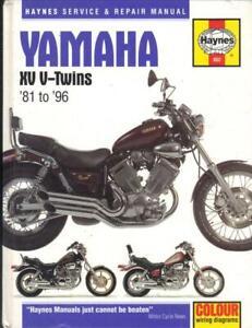 YAMAHA XV535,XV535S,VIRAGO XV750,XV1000,XV1100,TR1 HAYNES MANUAL 1981-1996