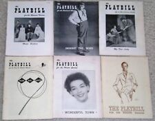 PLAYBILL-1940's and 1950's-6 DIFFERENT BROADWAY PLAYS-MY FAIR LADY-JULIE ANDREWS
