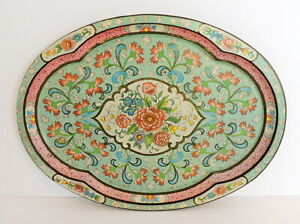 Daher Decorated Ware Tray Floral Cottage Core Farmhouse Chic Made In England