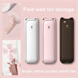 3in1 USB Rechargeable Mini Portable Folding Kitty Fan Electric 3 Adjustabl KEV